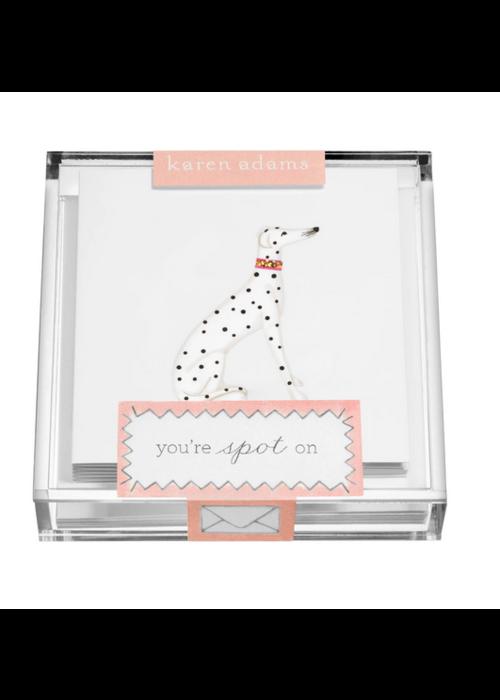 """Karen Adams KA Acrylic Box Enclosure Cards """"Dog"""""""