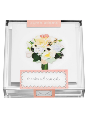 "Karen Adams Karen Adams Acrylic Box Enclosure Cards ""Flowers"""