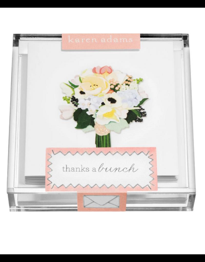 "Karen Adams Karen Adams Acrylic Box Enclosure Cards ""Flowers"""