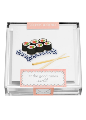 "Karen Adams Karen Adams Acrylic Box Enclosure Cards ""Sushi"""
