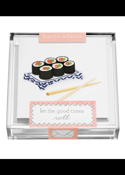 "Karen Adams Karen Adams Acrylic Box Enclosure Cards ""Sushi"""