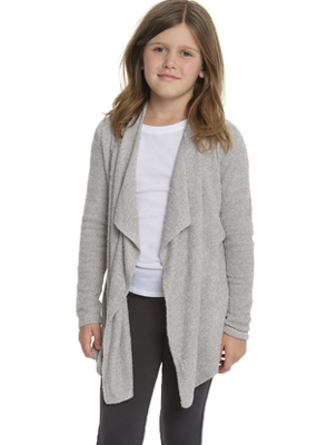 Barefoot Dreams Barefoot Dreams Cozychic Lite Girl Calypso Wrap He/Pewter Pearl