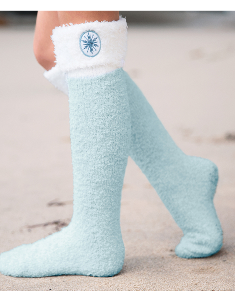 Barefoot Dreams Barefoot Dreams Cozychic Frozen Disney Youth Sock Heath/IceBlue One Size
