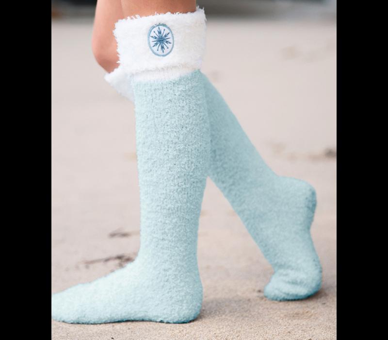 Barefoot Dreams Cozychic Frozen Disney Youth Sock Heath/IceBlue One Size