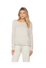 Barefoot Dreams Barefoot Dreams Cozychic Ultra Lite Slouchy Pullover Fog Gray