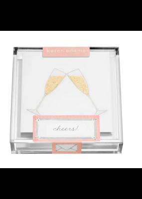 "Karen Adams Karen Adams Acrylic Box Enclosures ""Champagne Flutes"""
