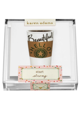 "Karen Adams Karen Adams Acrylic Box Enclosures ""Coffee"""