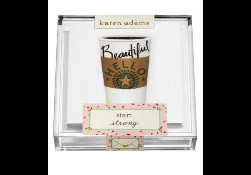 "Karen Adams Karen Adams Acrylic Box Enclosures ""Coffee"""
