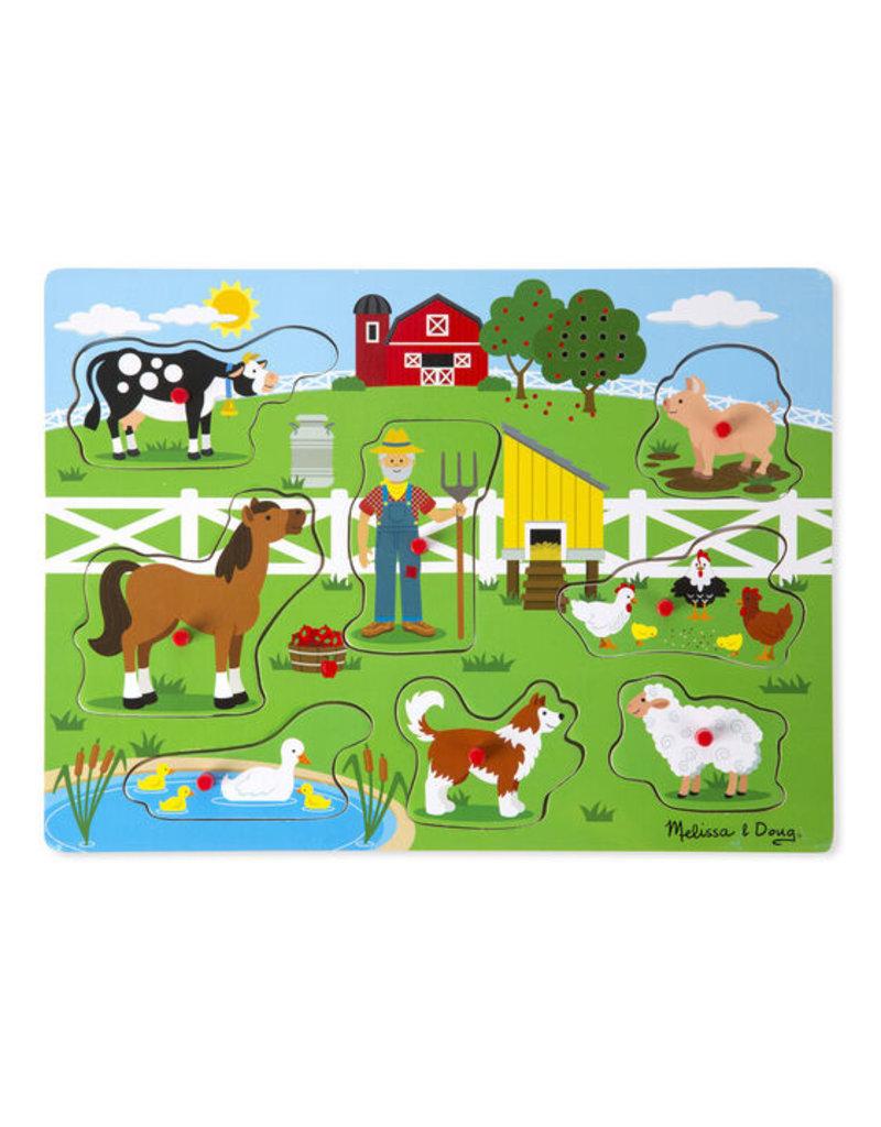 Melissa & Doug Old MacDonald Farm Sound puzzle