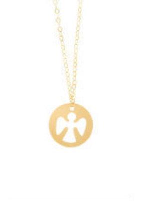 "ENewton ENewton 16"" Necklace Gold - Guardian Angel"