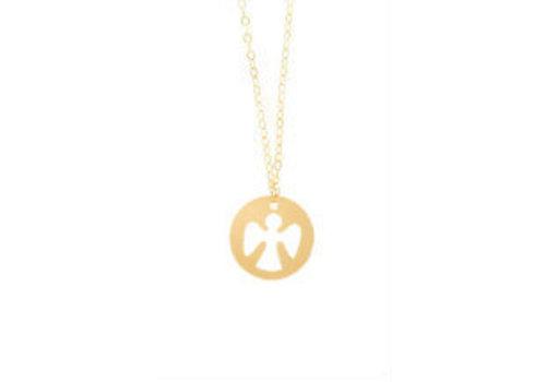 "ENewton 16"" Necklace Gold - Guardian Angel"