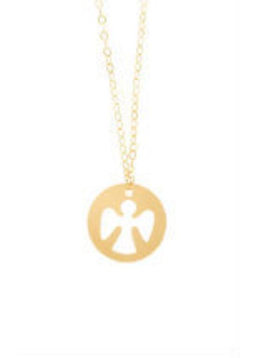 "E Newton ENewton 16"" Necklace Gold - Guardian Angel"