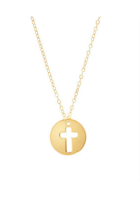 "ENewton 16"" Necklace Gold - Blessed Charm"
