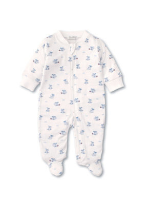 Kissy Kissy Kissy Kissy Playtime Pups PRT Footie with Zip Light blue