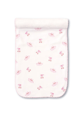 Kissy Kissy Kissy Kissy Pink Ballet Slippers PRT Burp Cloth Pink