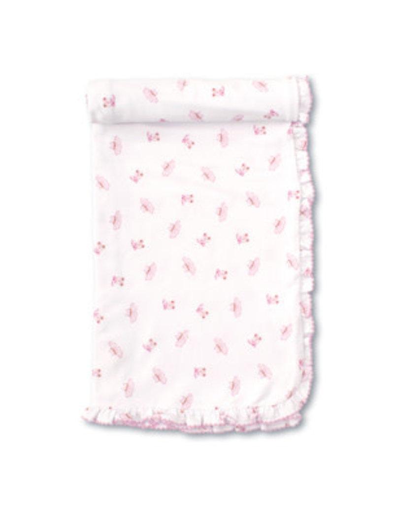 Kissy Kissy Kissy Kissy Pink Ballet Slippers PRT Blanket Pink