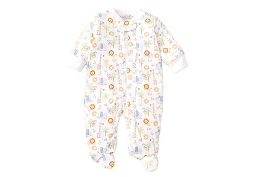 Kissy Kissy Kissy Kissy Footie w/Zip PRT Jungle Joy Multi