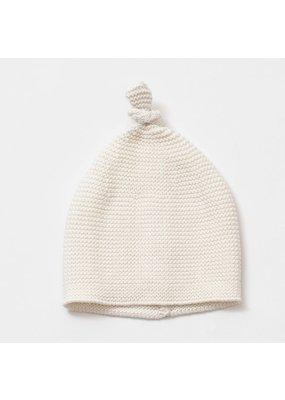 Zestt Organics Zestt Organics Cozy Top Knot Baby Hat Soft White