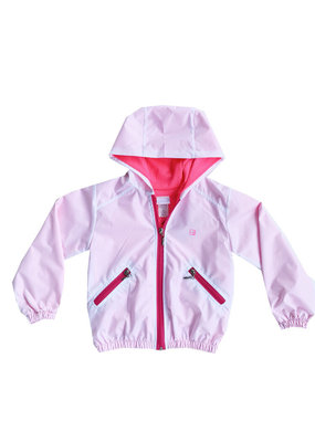 SET SET Wendy Windbreaker White and Neon Pink