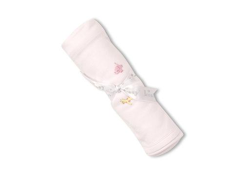 Kissy Kissy Kissy Kissy  Blanket w/Hand STR Emb SCE Jungle Fun Lt Pink