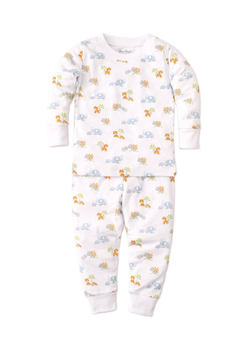 Kissy Kissy Kissy Kissy Pajama Set Snug PRT Safari Siblings Light Blue