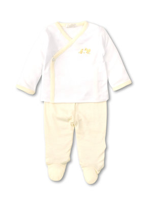 Kissy Kissy KK Footed Pant Set w/HE SCE Duckies Wht/Ylw