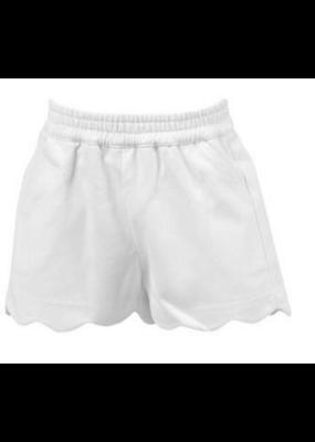Proper Peony Proper Peony Susie Scallop Shorts in White