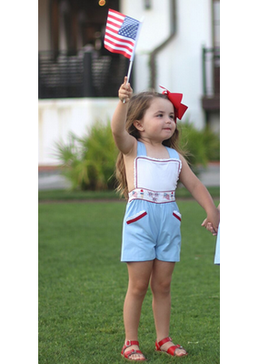 Christian Elizabeth & Co Christian Elizabeth & Co. Patriotic Parade Playsuit