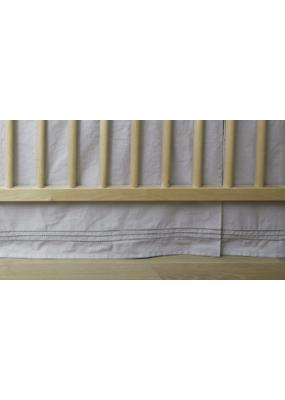 Pehr Pehr Crib Skirt Cotton/White