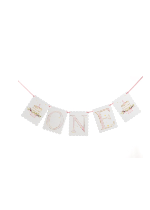 Over the Moon One Banner in Pink