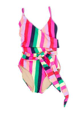 Shade Critters Shade Critters 1Pc Cut Out Multi Stripe Swimsuit
