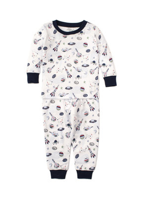Kissy Kissy Kissy Kissy Pajama Set Snug PRT Outer Space in Blue