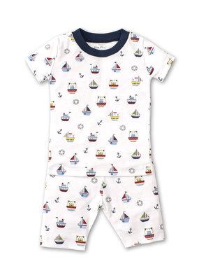 Kissy Kissy KK Short Pajama Set Snug PRT Windjammers in Multi