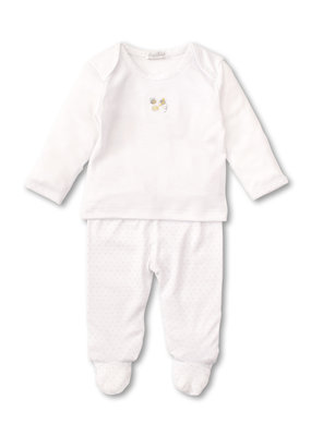 Kissy Kissy Kissy Kissy Footed Pant Set MIX Buzzing Bees White/Silver