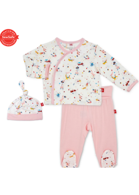 Magnetic Baby Magnetic Baby Pink Carnivale Modal Magnetic 3Pc. Kimono Set