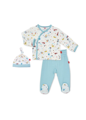 Magnetic Baby Magnetic Baby Blue Carnivale Modal Magnetic 3Pc. Kimono Set