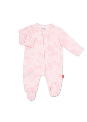 Magnetic Baby MAG Pink Doeskin Modal Magnetic Footie
