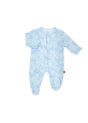 Magnetic Baby MAG Blue Doeskin Modal Magnetic Footie