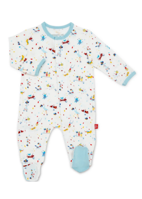Magnetic Baby Magnetic Baby  Blue Carnivale Modal Magnetic Footie