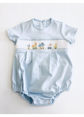 Petit Bebe Petit Bebe Toy Parade Boy's Bubble - Light Blue Knit