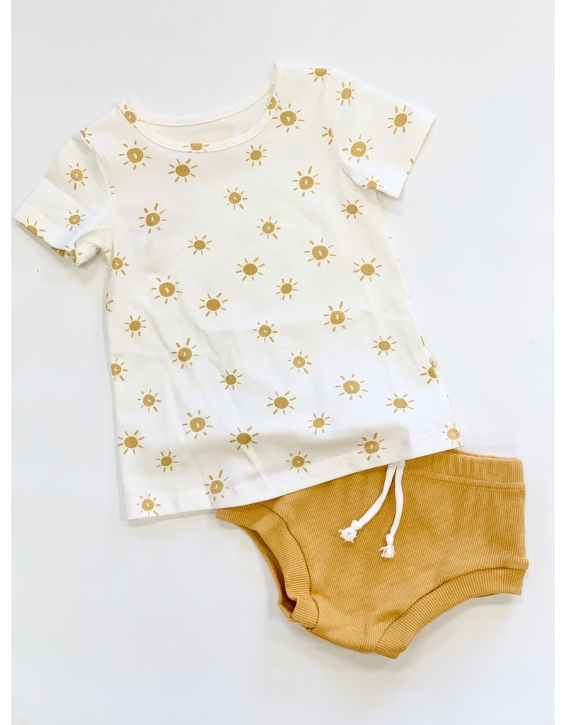Charming Mary Charming Mary Unisex Sunny St. Agnes Tee & Mustard Shepard Short Set