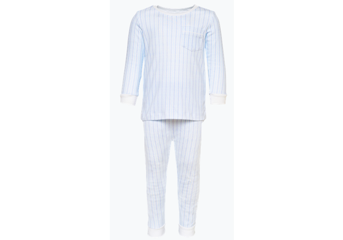 Lila and Hayes LH Bradford 2 pc Boy Pajama Piped Pocket Stripes Line Up