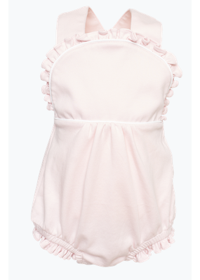 Lila and Hayes LH Eloise Girl S/L Criss Cross Bubble Light Pink