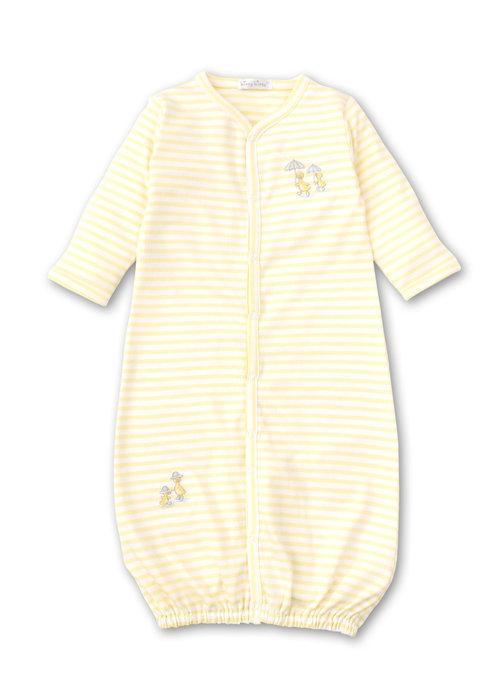 Kissy Kissy Kissy Kissy Converter Gown STR Downeast Duckies Yellow