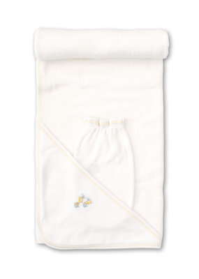 Kissy Kissy Kissy Kissy Hooded Towel w/Mitt Set - Downeast Duckies