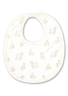 Kissy Kissy Kissy Kissy Bib PRT Downeast Duckies in Yellow
