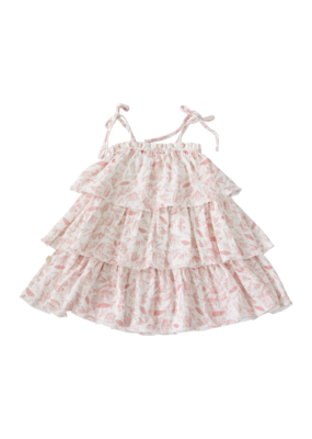 Charming Mary Charming Mary Tiered Tilly Dress Pink/White