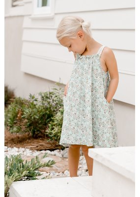 Charming Mary Charming Mary Poppy Pocket Dress Aqua Wildflower