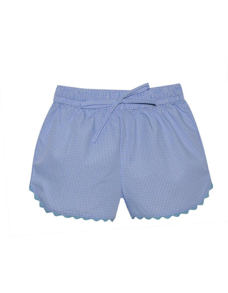 Lullaby Set LS Bailey Short Blue Tie w/ric rac trim