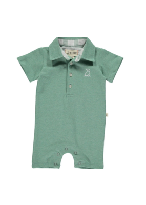 Me & Henry Me & Henry Green Cotton Romper